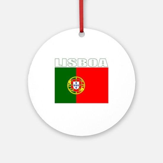 Lisboa, Portugal Ornament (Round)
