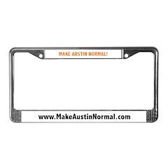 MakeAustinNormal.com License Plate Frame