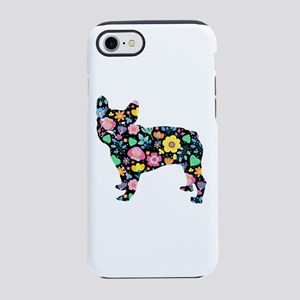 floral french bulldog art iPhone 7 Tough Case