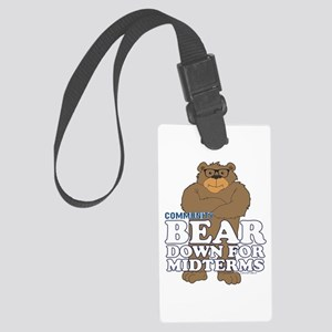 Bear Down Midterms Large Luggage Tag