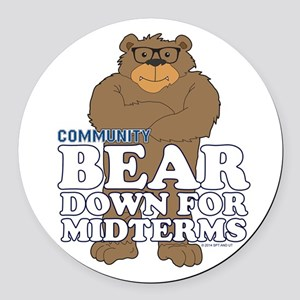 Bear Down Midterms Round Car Magnet