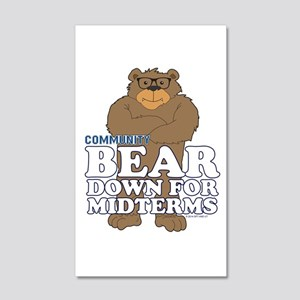 Bear Down Midterms 20x12 Wall Decal