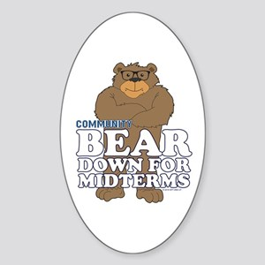 Bear Down Midterms Sticker (Oval)
