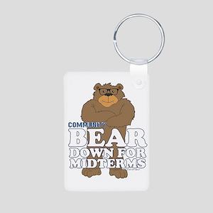 Bear Down Midterms Aluminum Photo Keychain