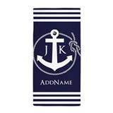 Anchor rope Beach Towels
