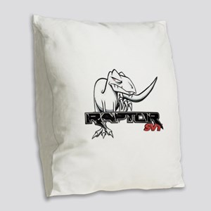 Ford Raptor SVT Burlap Throw Pillow
