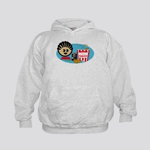 Fried Chicken and Beans Kids Hoodie