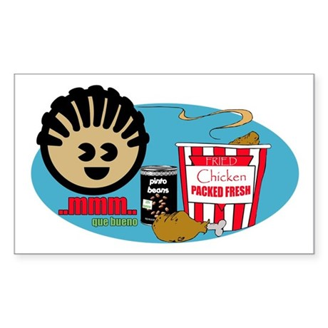 Fried Chicken and Beans Rectangle Sticker