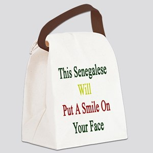 This Senegalese Will Put A Smile  Canvas Lunch Bag