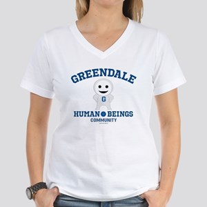 Greendale Human Beings Women's V-Neck T-Shirt