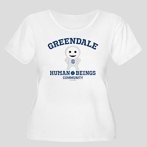 Greendale Hum Women's Plus Size Scoop Neck T-Shirt