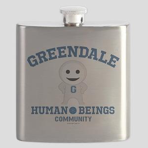Greendale Human Beings Flask
