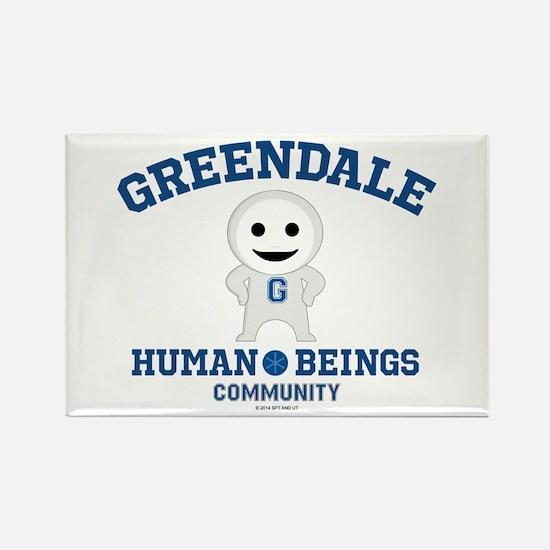 Greendale Human Beings Rectangle Magnet
