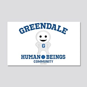Greendale Human Beings 20x12 Wall Decal