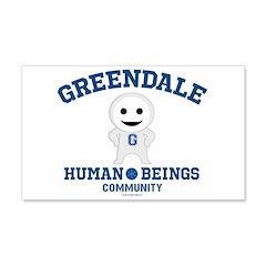 Greendale Human Beings Wall Decal