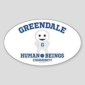 Greendale Human Beings Sticker (Oval)
