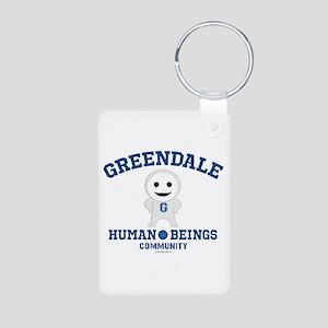 Greendale Human Beings Aluminum Photo Keychain