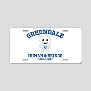 Greendale Human Beings Aluminum License Plate