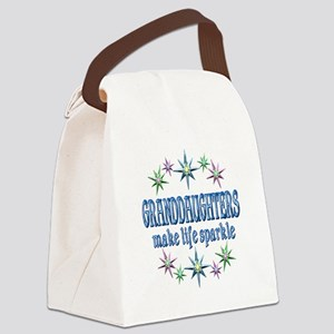 Granddaughters Sparkle Canvas Lunch Bag