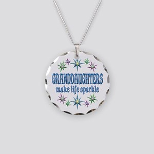 Granddaughters Sparkle Necklace Circle Charm