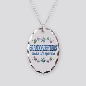 Granddaughters Sparkle Necklace Oval Charm