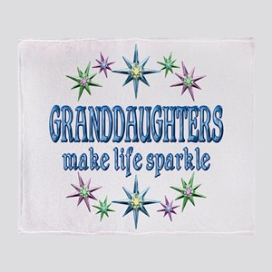 Granddaughters Sparkle Throw Blanket