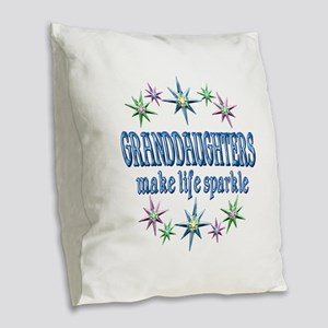 Granddaughters Sparkle Burlap Throw Pillow