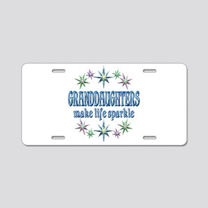 Granddaughters Sparkle Aluminum License Plate