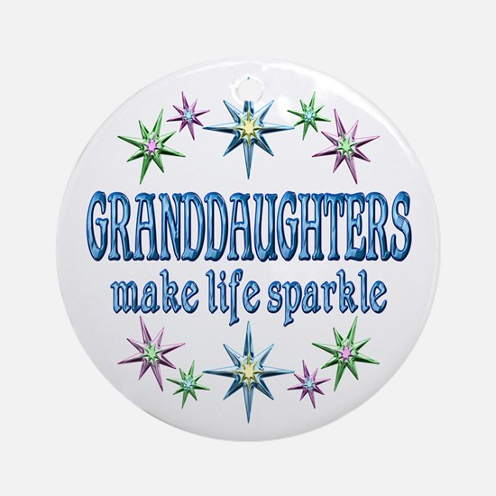Granddaughters Sparkle Ornament (Round)