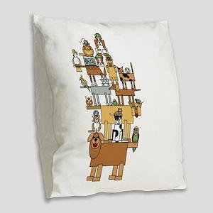 Bla Bla Bla Burlap Throw Pillow