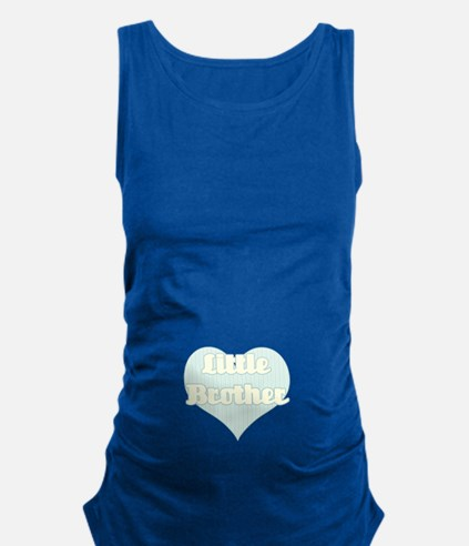 Little Brother -Blue And Yellow Maternity Tank Top