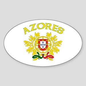 Azores, Portugal Oval Sticker