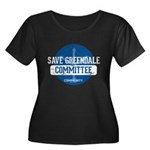 Save Gre Women's Plus Size Scoop Neck Dark T-Shirt