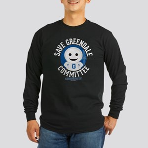 Save Greendale Committee Long Sleeve Dark T-Shirt
