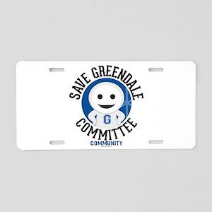 Save Greendale Committee Aluminum License Plate
