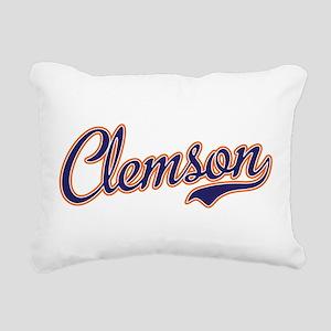 Clemson Script Font Rectangular Canvas Pillow