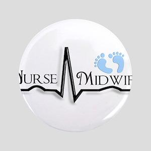 "nurse midwife 3.5"" Button"