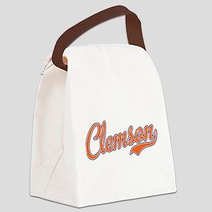Clemson Script Font Canvas Lunch Bag