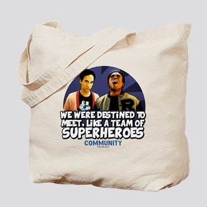 Troy and Abed Superheroes Tote Bag