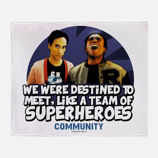 Troy and Abed Superheroes Throw Blanket