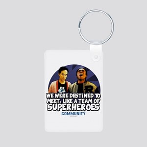 Troy and Abed Superheroes Aluminum Photo Keychain