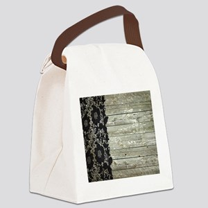 grey barn wood lace western country Canvas Lunch B