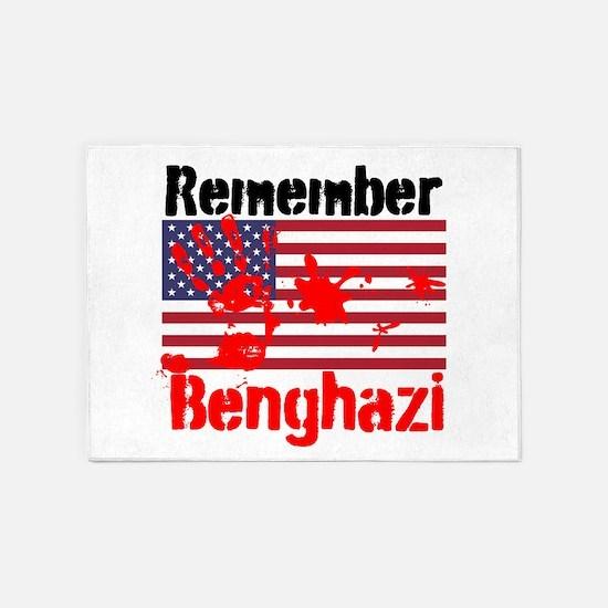 Remember Benghazi 5'x7'Area Rug
