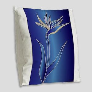 Birds of Paradise Burlap Throw Pillow