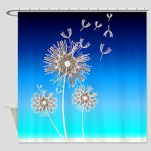 Dandelion Seeds Shower Curtain