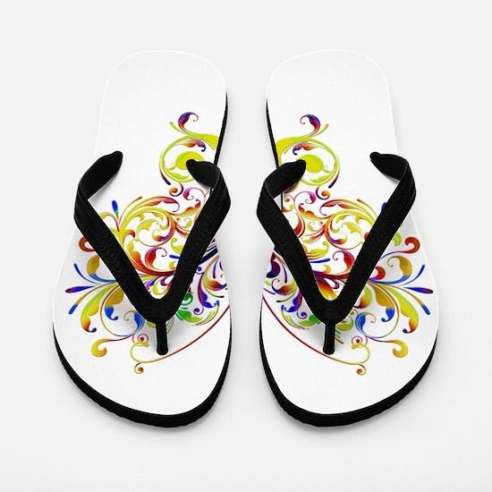 Bright butterfly Flip Flops