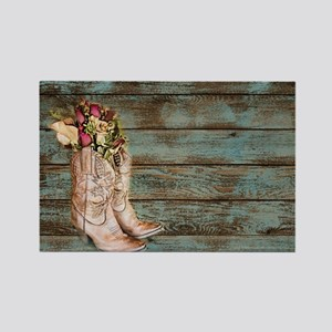 modern cowboy boots barn wood Magnets