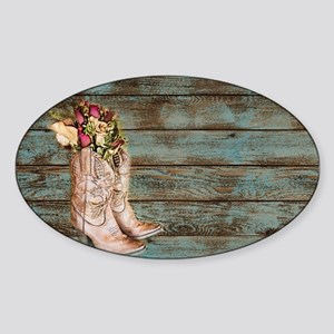 modern cowboy boots barn wood Sticker