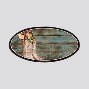 modern cowboy boots barn wood Patches