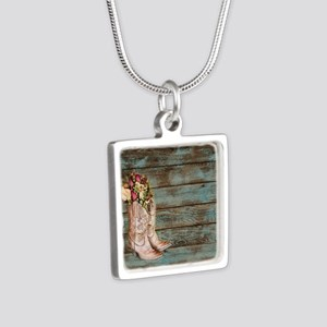 modern cowboy boots barn wood Necklaces